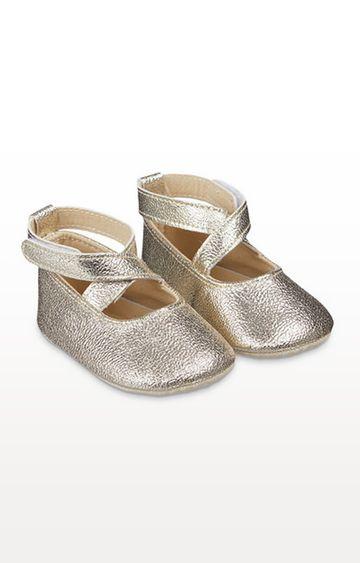 Mothercare | Sparkly Gold Ballerina Pram Shoe