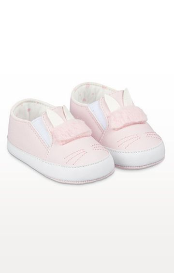 Mothercare | Pink Bunny Baby Trainers
