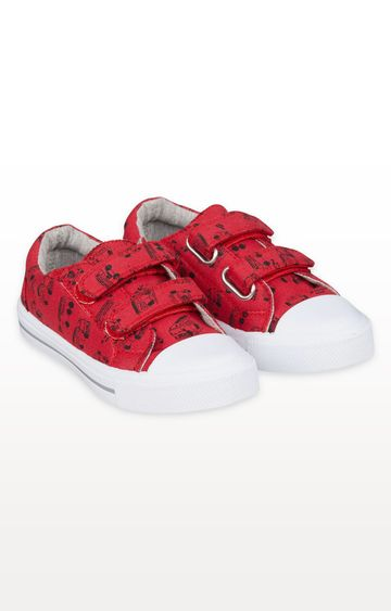 Mothercare | Fire Engine Canvas Trainers