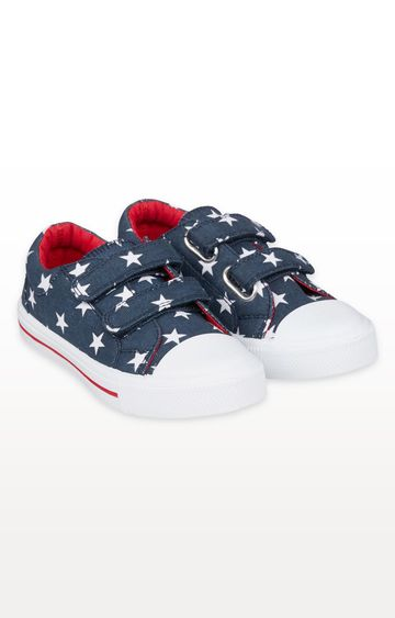 Mothercare | Navy Star Canvas Trainers