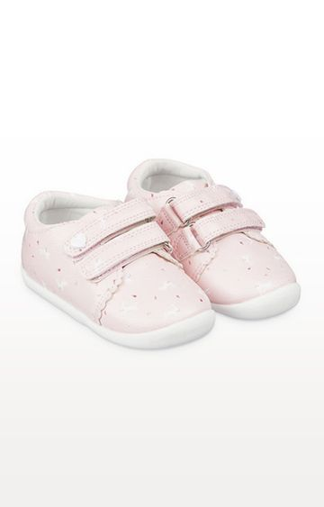 Mothercare | Pink Bunny Trainer Crawler Shoes