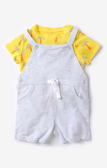 Mothercare | Yellow and Grey Boy Dungaree Set