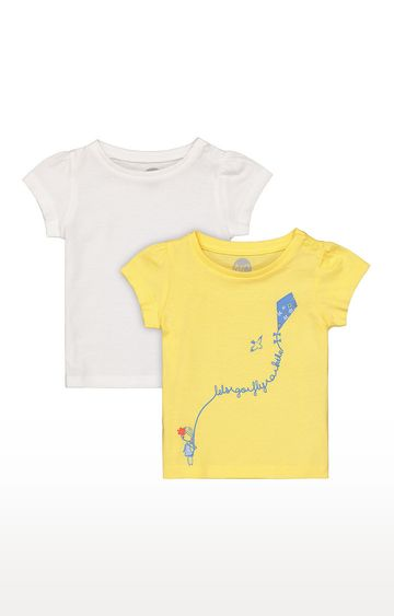 Mothercare | Girls Half Sleeve Round Neck Tee - Yellow