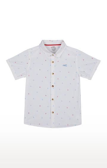 Mothercare | Boys Half Sleeve Shirt - Printed White