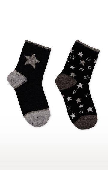 Mothercare | Black Printed Socks - Pack of 2