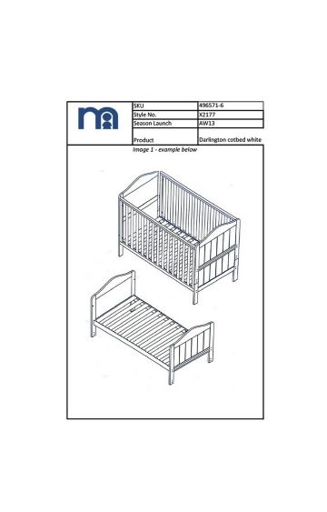 Mothercare | White Cot Bed
