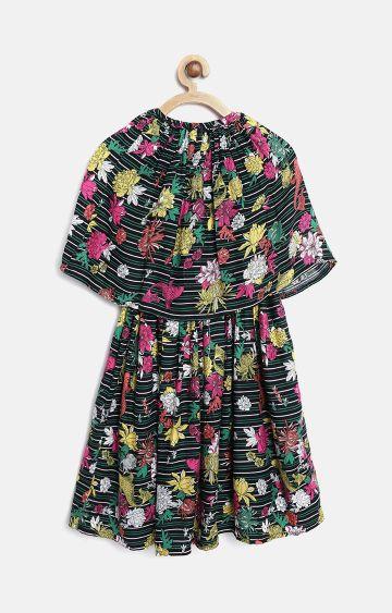 Bellamoda | Black Printed Dress