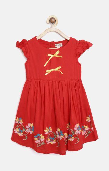 Bellamoda | Red Printed Dress
