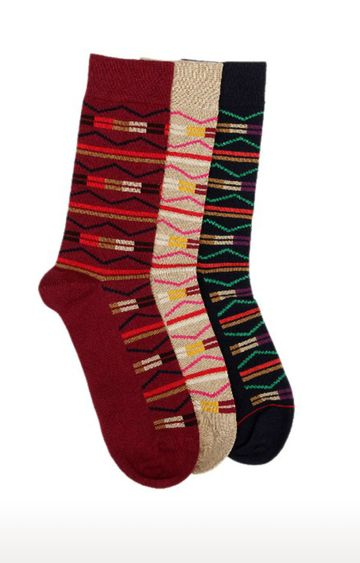 Soxytoes | Multicolour Cotton Calf Length Formal Socks - Pack of 3