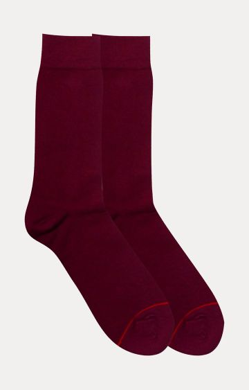 Soxytoes | Maroon Solid Socks