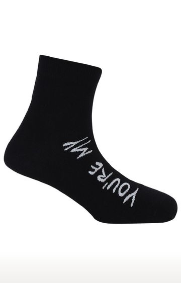 Soxytoes | You're My Lobster Black Cotton Ankle Length Unisex Casual Socks