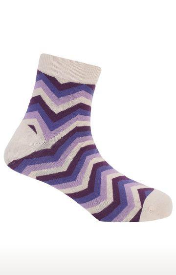 Soxytoes | Twisters Beige Cotton Ankle Length Formal Socks