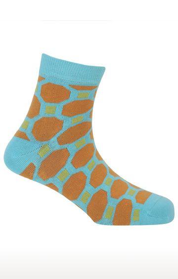 Soxytoes | Harmony Blue Cotton Ankle Length Formal Socks