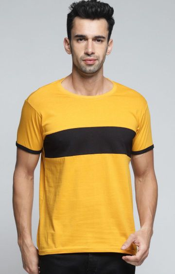 Dillinger | Yellow Colourblock T-Shirt