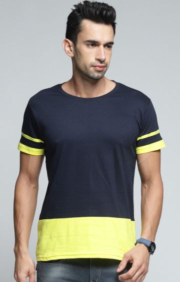 Dillinger | Navy Colourblock T-Shirt