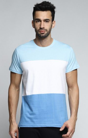 Dillinger | Light Blue Colourblock T-Shirt