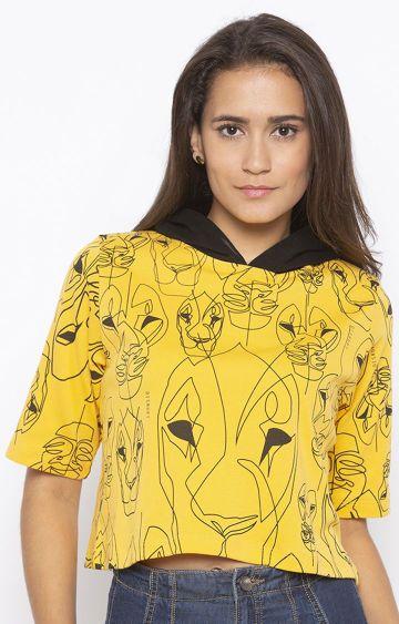 DISRUPT | Yellow Printed Hoodie