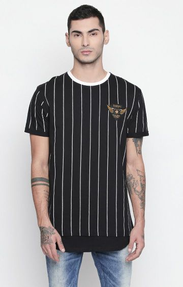 DISRUPT | Black Striped T-Shirt