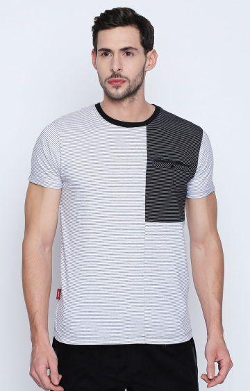 DISRUPT | White Striped T-Shirt
