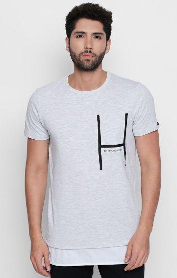 DISRUPT   White Melange T-Shirt