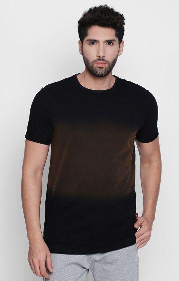 DISRUPT | Black Colourblock T-Shirt