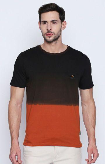 DISRUPT   Rust Colourblock T-Shirt