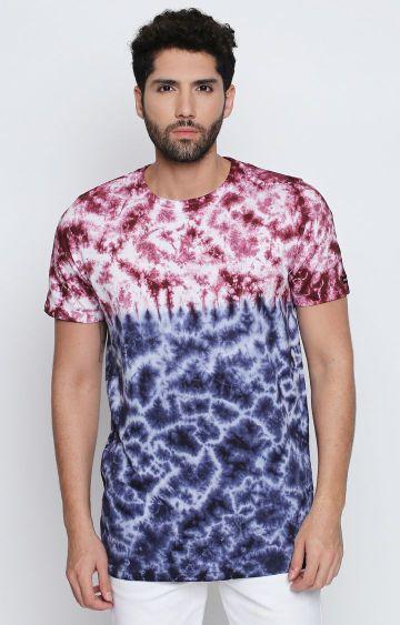 DISRUPT | Blue Printed T-Shirt