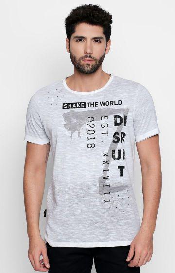 DISRUPT | Grey Printed T-Shirt
