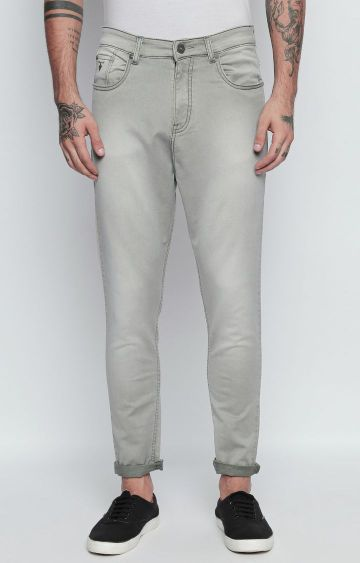 DISRUPT | Grey Solid Straight Jeans