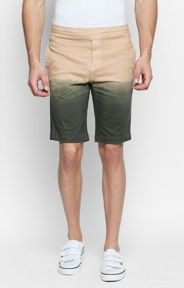 DISRUPT | Beige Colourblock Shorts