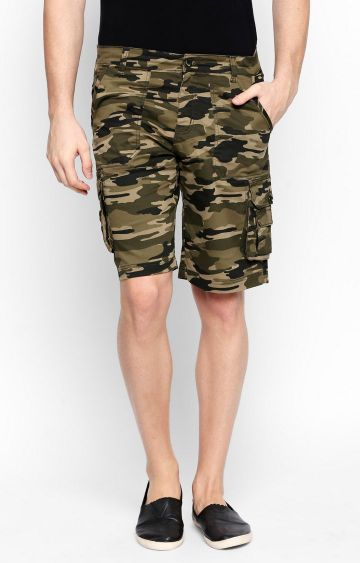 DISRUPT | Olive Printed Shorts