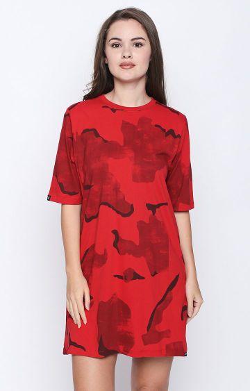 DISRUPT | Red Printed Shift Dress