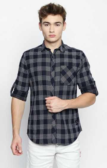 DISRUPT | Black Checked Casual Shirt