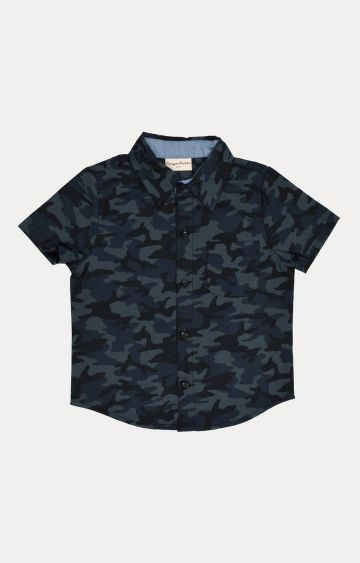 Crayonflakes | Grey Printed Shirt