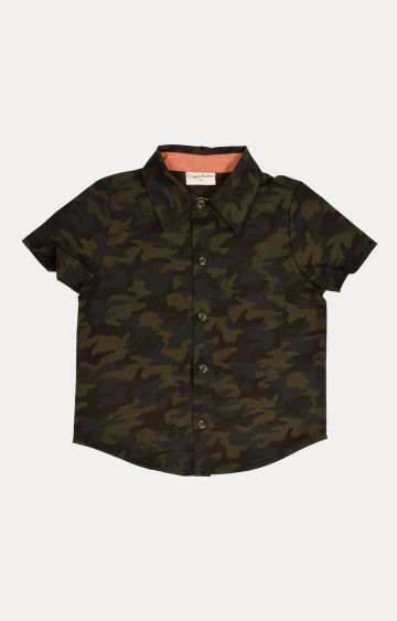 Crayonflakes | Green Printed Shirt