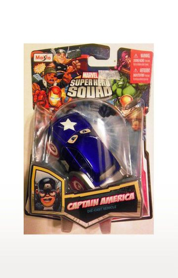 Hamleys | Marvel Super Hero Squad Captain America Squad Cars Die-Cast Vehicle