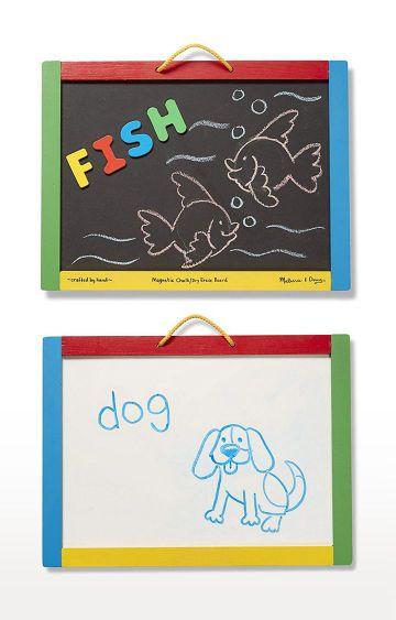 Hamleys | Melissa and Doug 145 Magnetic Chalk and Dry Erase Board