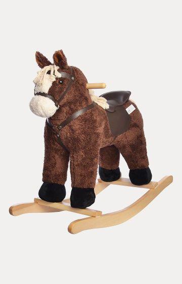 Hamleys   Comdaq Brown Rocking Horse