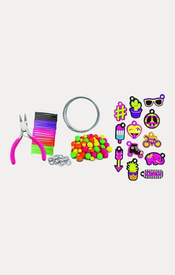 Hamleys | Fashion Angels Enterprises Neon Emoji Charm Mash-Up Bracelet Kit