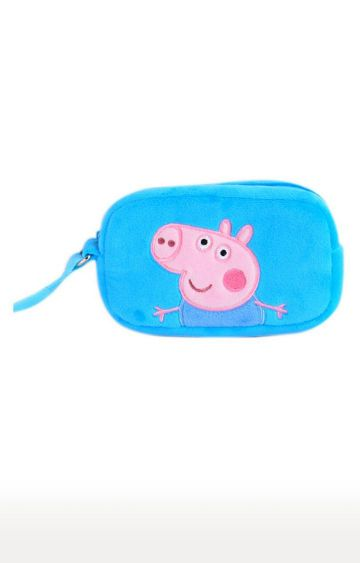 Hamleys | Peppa Pig George Blue Plush Toy Wallet
