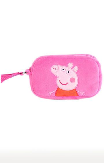 Hamleys | Peppa Pig Pink Plush Toy Wallet