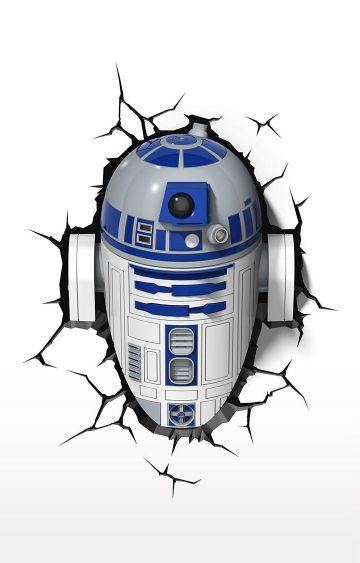 Hamleys | 3D Light FX Plastic and Metal Star Wars R2 D2 3D Deco Led Wall Light