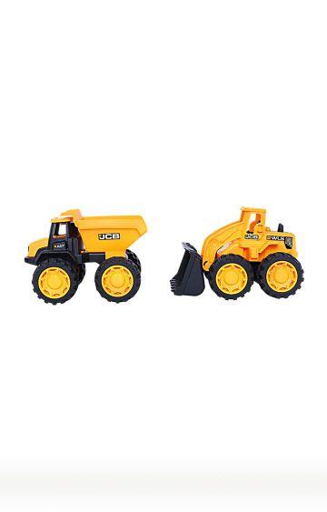 Hamleys   Yellow JCB Mega Transporter