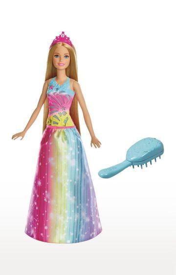 Hamleys | Barbie Dreamtopia Brush N Sparkle Princess Barbie
