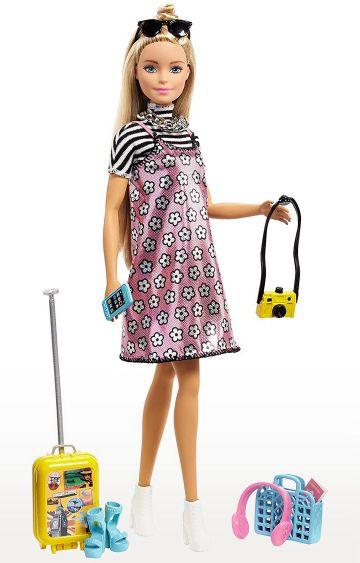 Hamleys | Pink Barbie Fashion Travel Set FNY29