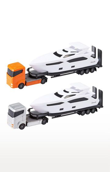 Hamleys | Teamsterz Luxury Yacht Sea Cruiser Lorry Transporter Vehicle Toy Playset