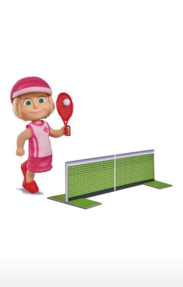 Hamleys | Simba Masha with 2 Tennis Rackets, Extra Outfit and Net of Cardboard