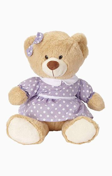 Hamleys | Cuddles Polka Dress Bear Soft Toy