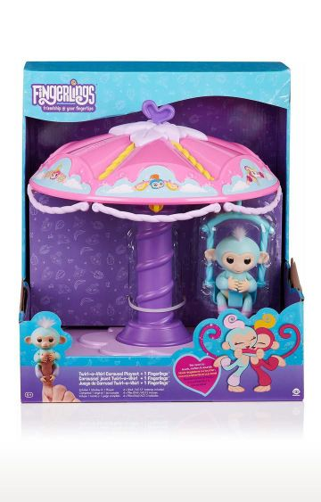 Hamleys | WowWee Fingerlings Twirl-A-Whirl Carousel Playset