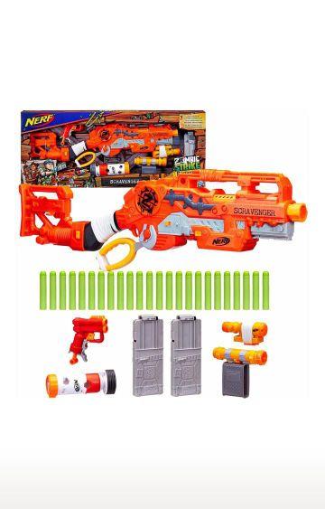 Hamleys | Nerf Scravenger Zombie Strike Toy Blaste